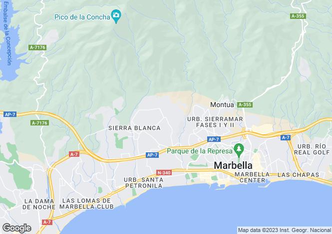 Map for Spain - Andalusia, Malaga, Sierra Blanca