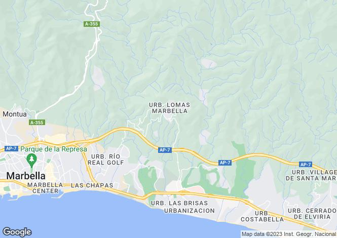 Map for Spain - Andalucia, Malaga, Altos de los Monteros
