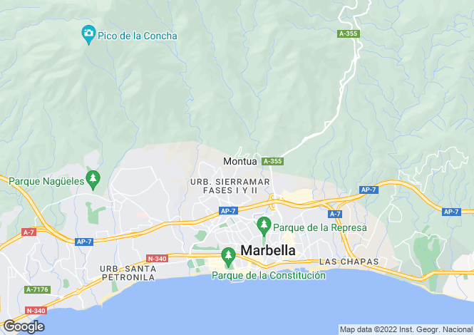 Map for Marbella, Malaga, Spain