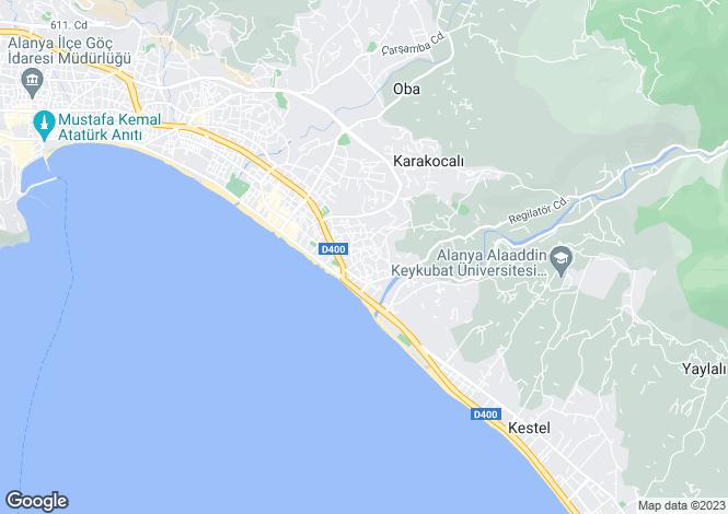 Map for Tosmur, Alanya, Antalya