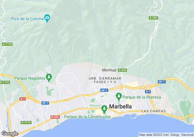 Map for Andalusia, Málaga, Marbella