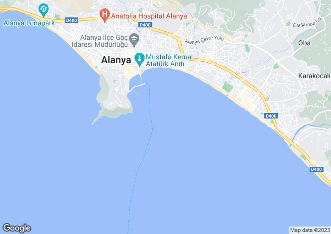 Map for Antalya, Alanya, Alanya