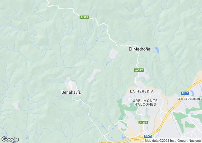 Map for La Zagaleta, Benahavis, Spain