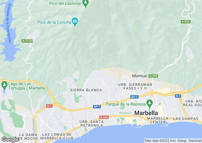 Map for Andalusia, Malaga, Sierra Blanca