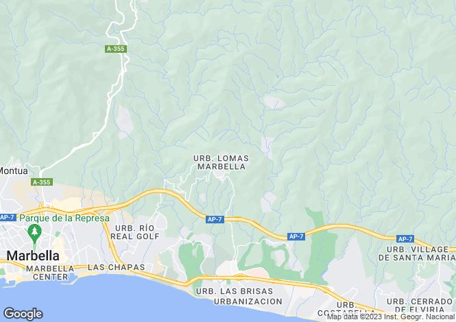 Map for Marbella, Costa Del Sol, Spain