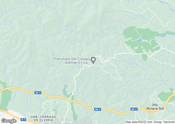 Map for Andalusia, Malaga, La Mairena