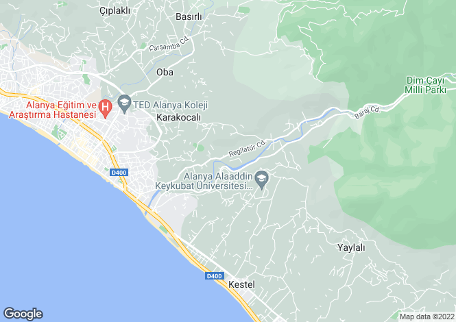 Map for Alanya, Alanya, Antalya