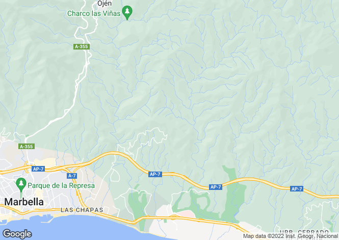 Map for Andalusia, Malaga, Naguelles