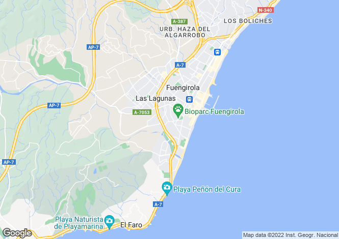 Map for Spain - Andalusia, Malaga, Fuengirola