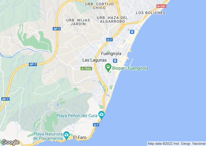 Map for Andalucia, Malaga, Fuengirola