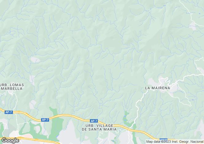 Map for Andalusia, Malaga, El Rosario