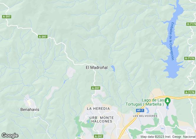 Map for Andalucia, Malaga, El Madronal
