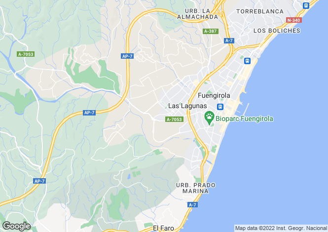 Map for Andalucia, Malaga, Mijas