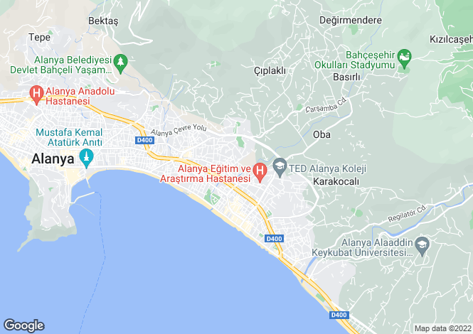 Map for Cikcilli, Alanya, Antalya