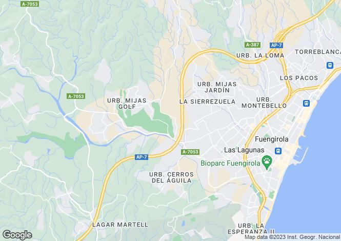 Map for Andalucia, Malaga, Mijas Golf