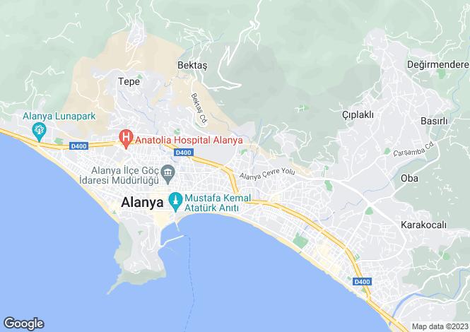 Map for Antalya, Alanya, Cikcilli