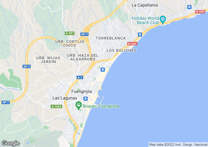 Map for Andalucia, Malaga, Los Boliches