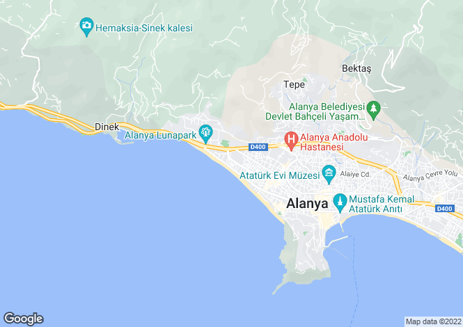 Map for Alanya, Alanya, Antalya