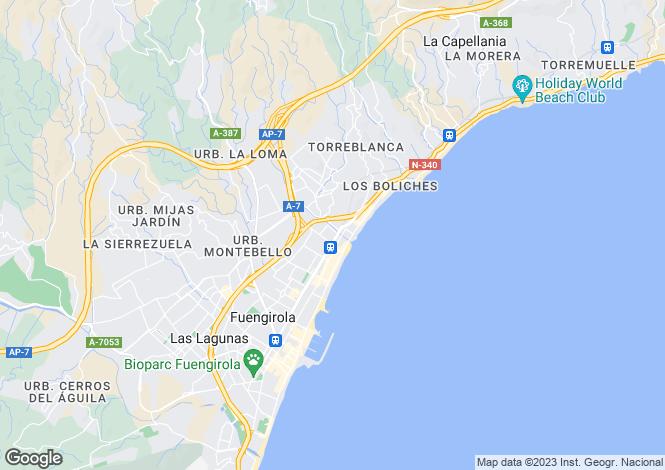Map for Andalucia, Malaga, Fuengirola