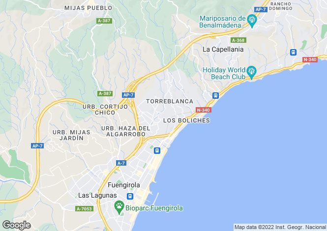 Map for Andalucia, Malaga, Torreblanca