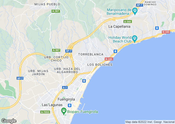 Map for Torreblanca, Málaga, Andalusia