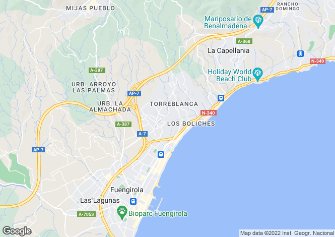 Map for Torreblanca, Malaga, Spain