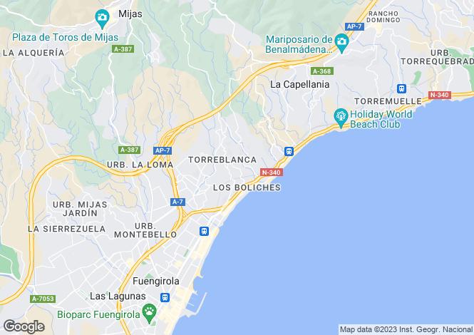 Map for Torreblanca, Costa Del Sol, Spain