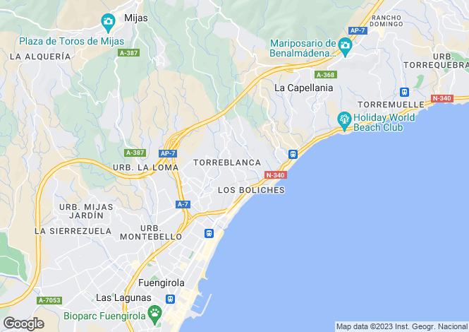 Map for Andalusia, Malaga, Fuengirola