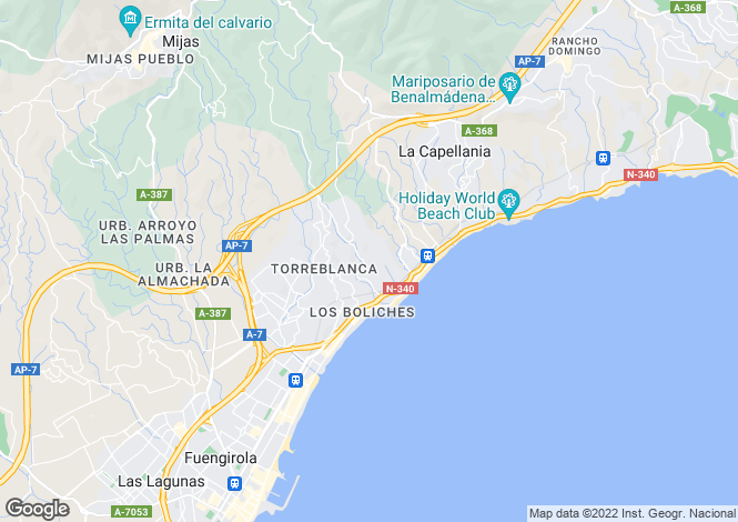 Map for Andalucia, Malaga, Benalmádena