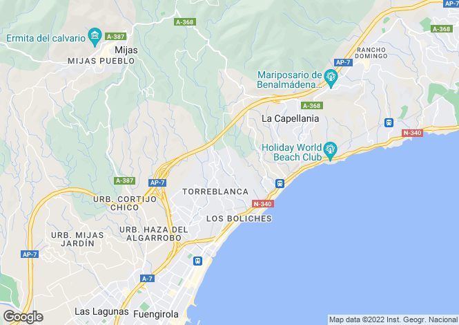 Map for Fuengirola, Málaga, Andalusia