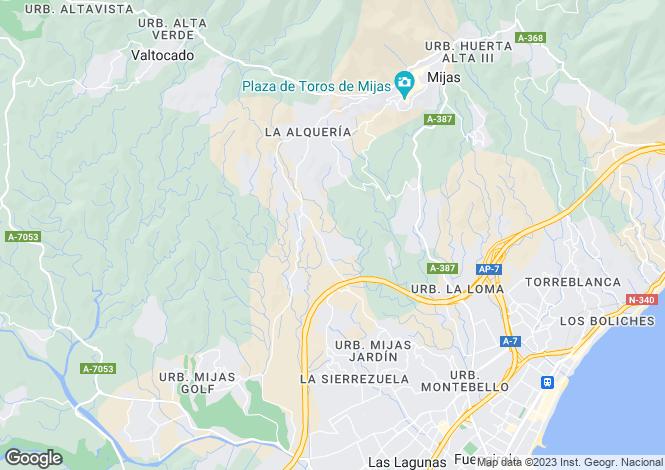 Map for Mijas, Mijas, Malaga, Spain