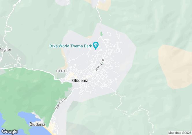 Map for Ovacik, Fethiye, Mugla