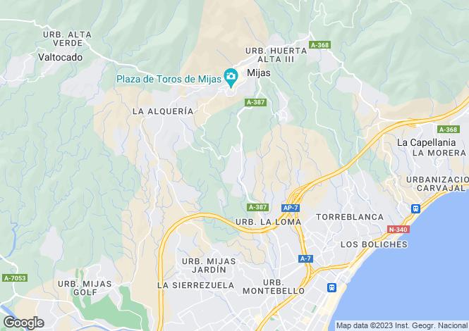 Map for Andalusia, Malaga, Mijas