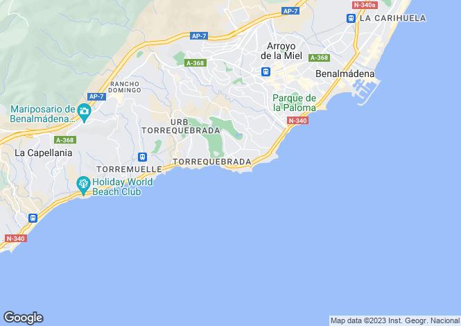 Map for Andalucia, Malaga, Arroyo de la Miel