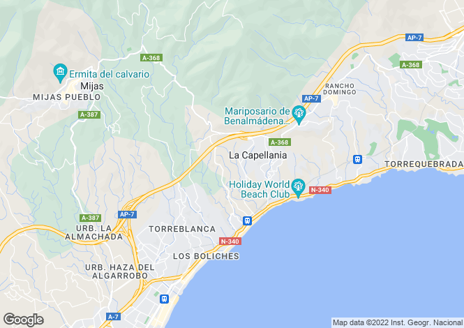 Map for Fuengirola, Málaga, Andalusia