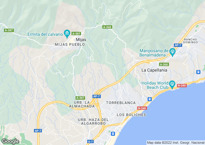 Map for Mijas, Málaga, Andalusia