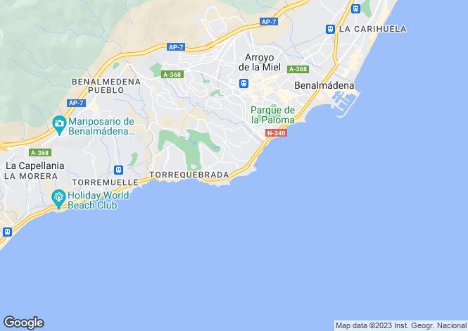 Map for Torrequebrada, Costa Del Sol, Spain