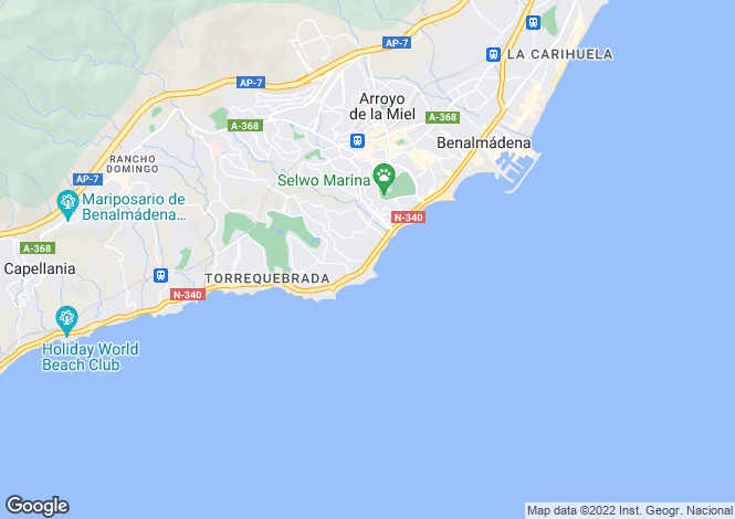 Map for Benalmádena, Málaga, Andalusia