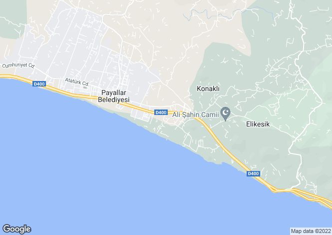 Map for Konakli, Alanya, Antalya