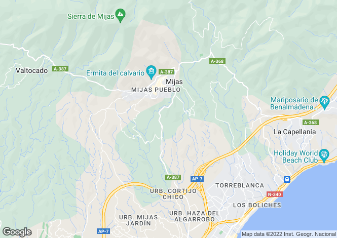 Map for Andalusia, Malaga, Mijas-Costa