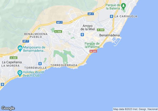 Map for Benalmadena Costa, Fuengirola, Spain