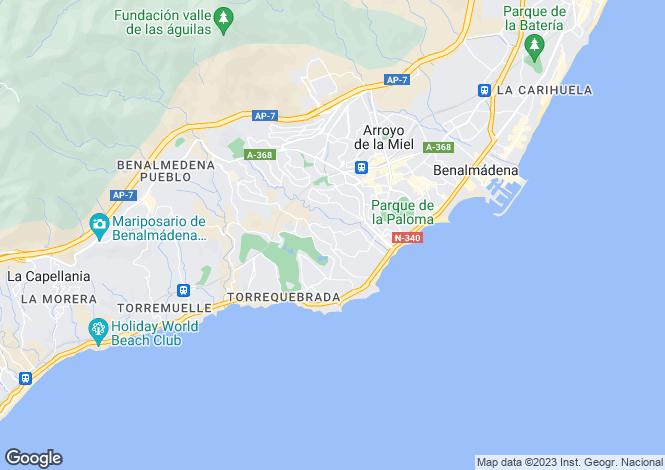 Map for Torrequebrada, Málaga, Andalusia