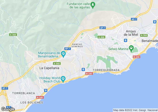 Map for Andalucia, Malaga, Benalmádena
