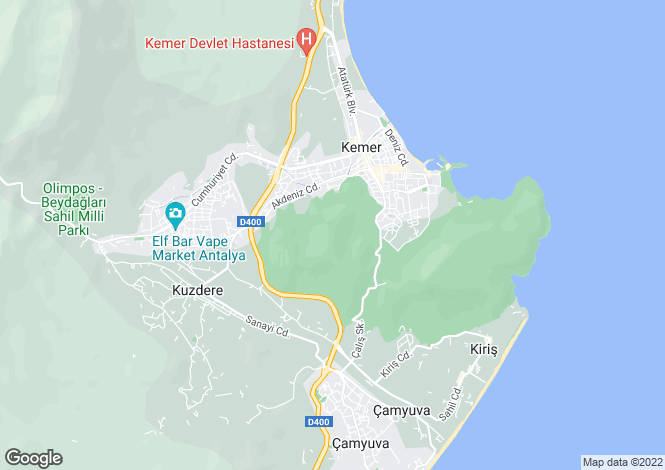 Map for Kemer, Kemer, Antalya