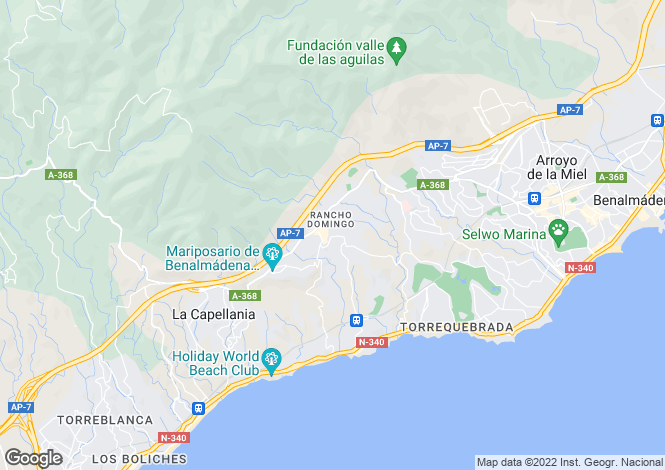 Map for Benalmadena, Fuengirola, Spain