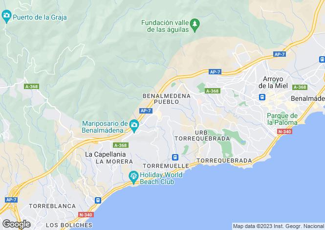 Map for Andalusia, Malaga, Benalmádena