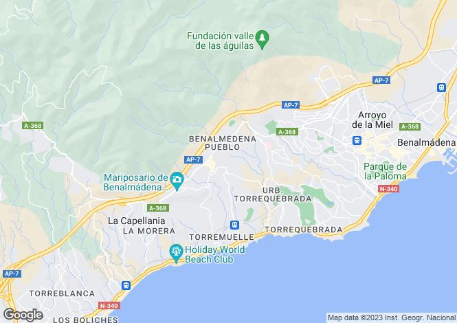Map for Spain - Andalusia, Malaga, Benalmádena