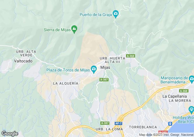 Map for Mijas, Costa Del Sol, Spain