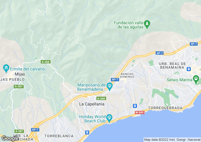 Map for Andalusia, Malaga, Benalmádena