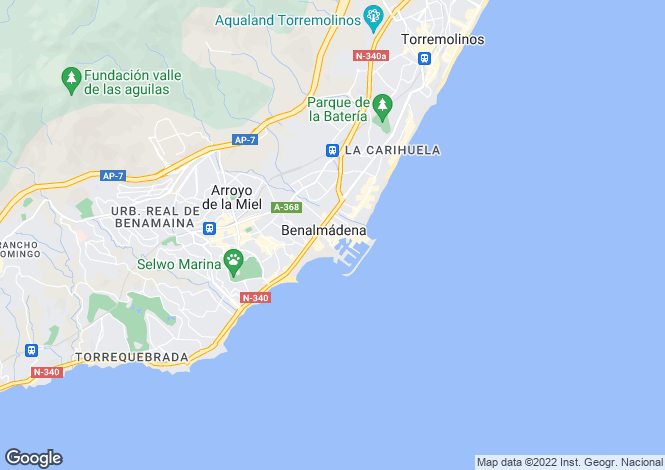 Map for New Luxury Collection Of Apartment, Benalmadena, Malaga